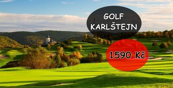 Golf na Karlštejně - 18 jamek za mimořádných 1590 Kč