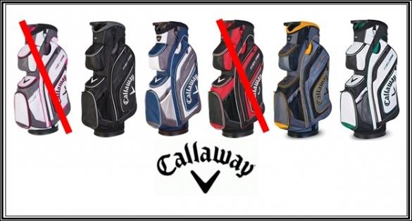 Callaway Org Cart Bagy v mnoha barevných kombinacích se slevou 35%