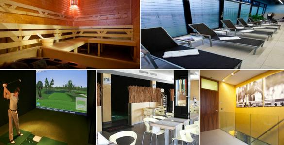 90 min. sauny + 60 min. na golfovém simulátoru v PRAZE pro 4 osoby za 165 Kč/osoba