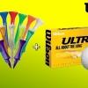 Jarní balíček golfové munice - 9ks míčků Wilson Ultra + mix 80 týček (4 typy včetně luxusních s korunkou)