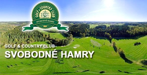 Golf SVOBODNÉ HAMRY - green fee 18 jamek + nesoutěžní výsledek se slevou až 52%! Dvě varianty.
