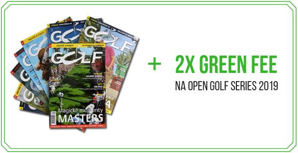 Roční el. předplatné časopisu Golf + 2x green fee na turnaj dle vlastního výběru = 1.250 Kč!
