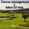 Naučte se hrát jako profík: Course management (9 jamek s profesionálem) + bugyna + lekce 55min., sleva 46%!