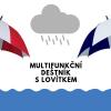 Multifunkční golfový deštník s integrovaným lovítkem - různé barvy