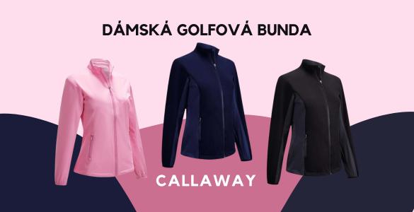 Callaway WindJacket dámská golfová bunda za 1 590 Kč! Černá, tmavě modrá, růžová, velikosti XS-XL