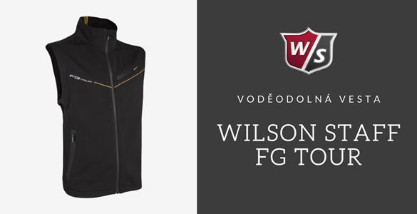 Voděodolná elegantní pánská golfová vesta - Wilson Staff FG Tour - nyní za polovic