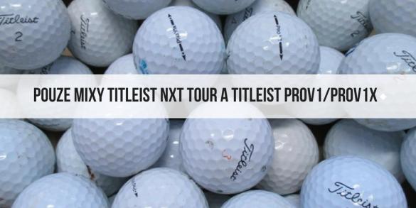 Hrané golfové míčky výběr Titleist PROV1/V1x a Titleist NXT Tour - od 12 Kč/kus!!