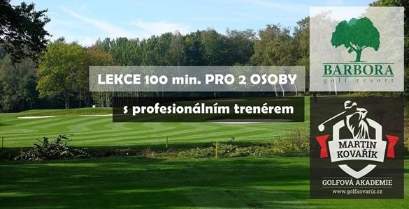 Golfová lekce pro dva na Barboře - 100 minut s golfovým profesionálem u Teplic včetně míčů a holí jen za 999 Kč