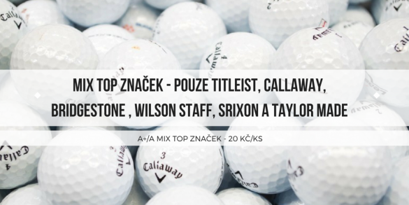 Hrané golfové míčky 50 ks - A+/A kvalita mix pouze TOP značek jen 20 Kč / ks