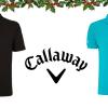 Pro klasiky: 100% bavlněné pánské tričko Callaway - černé a tyrkysové