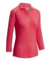 Callaway Shadow Stripe dámské golfové triko s 3/4 rukávem, korálové