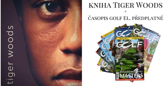 Knižní novinka Tiger Woods + el. předplatné časopisu Golf = 599 Kč