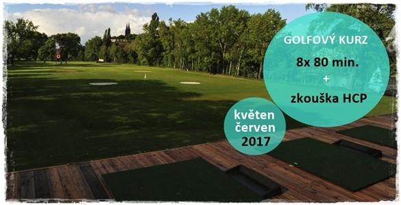 Bezkonkureční golfový kurz 8x 80min. na HCP se závěrečnou zkouškou - 3500 Kč