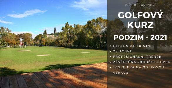 Bezkonkureční golfový kurz 8x 80min v Praze se závěrečnou zkouškou jen za 3500 Kč - plus sleva v golf shopu.