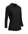 Callaway Shadow Stripe dámské golfové triko s 3/4 rukávem, černé