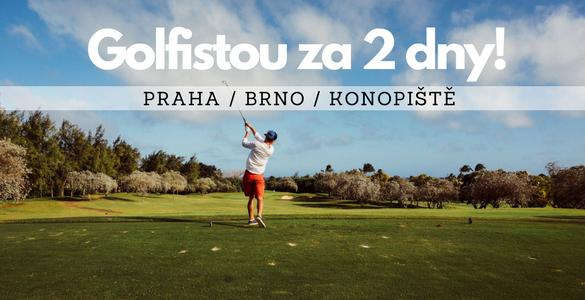Golfistou jen za 3390 Kč! Intenzivní golfový kurz + závěrečná zkouška - 12x 50min, včetně vstupů a míčů