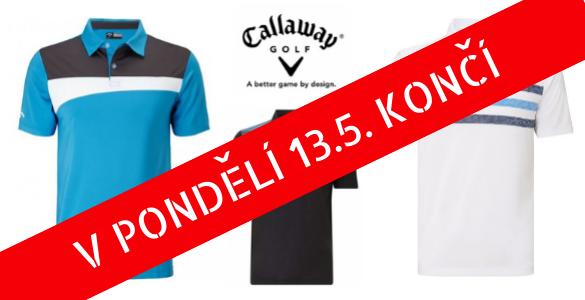 Tři modely pánských triček Callaway za 990 Kč / KUS - velikosti S-XXL
