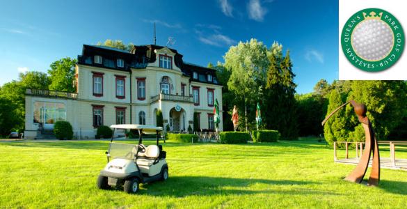 GOLF s OBĚDEM v královské Myštěvsi: Neomezený golf + oběd + 51 ks míčů na DR + hra na úpravu HCP = 690 Kč!