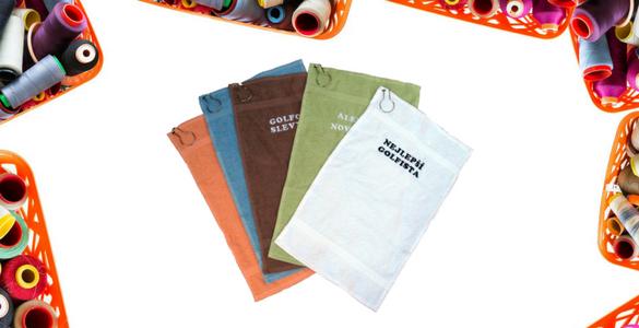 DÁREK JAKO VYŠITÝ! Golfový ručník s vlastní výšivkou od 199 Kč / ks. Varianta CALLAWAY.