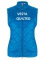 Quilted modrá vesta