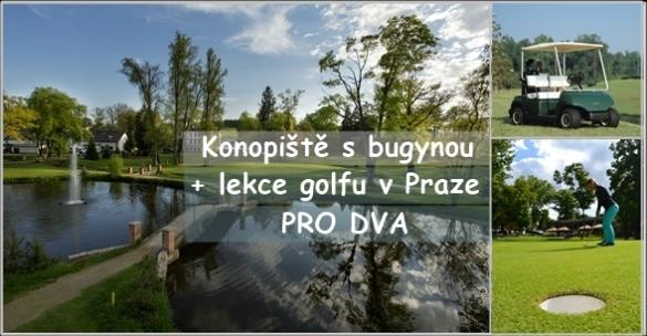 Golf & luxus na Konopišti - fee 18 jamek s buggy + 60min. lekce golfu v Praze jen za 2290 Kč PRO DVA!