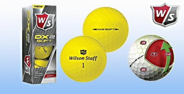 Wilson Staff DX2 Soft extra měkké žluté golfové míčky 3ks se slevou 45%!