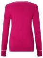 Golfový svetr Callaway Jacquard růžový 2
