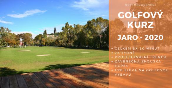 Bezkonkureční golfový kurz 8x 80min v Praze se závěrečnou zkouškou jen za 3500 Kč - tip pro golfové váhače