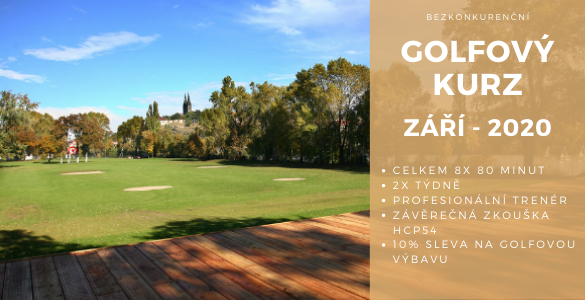 Bezkonkureční golfový kurz 8x 80min v Praze se závěrečnou zkouškou jen za 3500 Kč - září 2020.